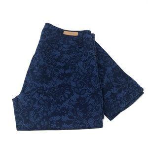 Sanctuary Blue Denim Jeans with Floral Print